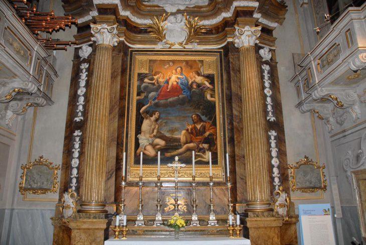 Cappella di San Sebastiano e San Rocco – Quadro dell'Albani