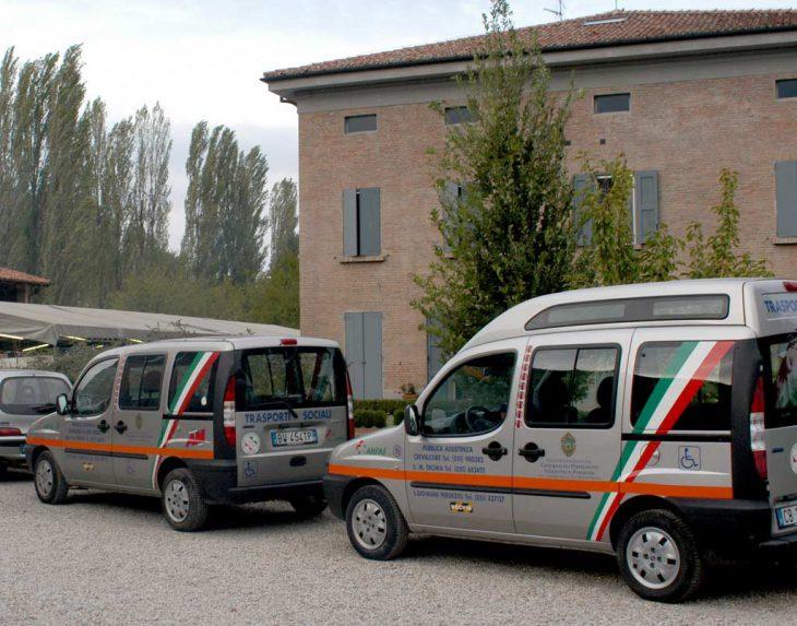 I due Fiat Doblò di proprietà del Consorzio dei Partecipanti dedicati al Servizio