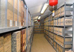 La sede, una vista dei locali dell'archivio storico
