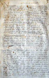 14 Settembre 1470 (Pergamena). Enfiteusi del Vescovo di Bologna Giovanni Di Sarzana)