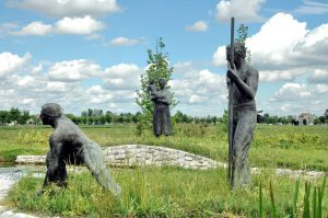 """Il monumento """"Omaggio ai bonificatori"""""""